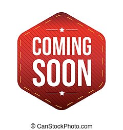 Coming Soon patch vector