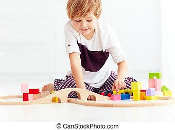 2UTE, 玩具, 家, 鐵路, 玩, 孩子