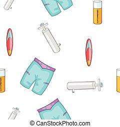 Water sport pattern, cartoon style