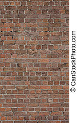 Red brick wall background - vertical - Red brick wall useful...