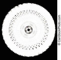 Artistic circle shape made of dense line. Abstract circle,...