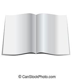 Blank magazine - Illustration of a glossy blank magazine or...