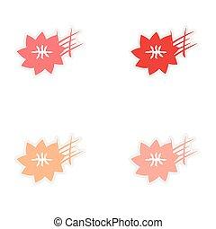 assembly realistic sticker design on paper saffron