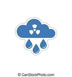 rzeźnik, deszcz, papier, tło, toksyczny, biały