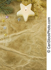 white star candle antique paper