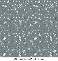 snowflake and stars pattern