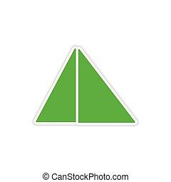 icon sticker realistic design on paper pyramids Egypt