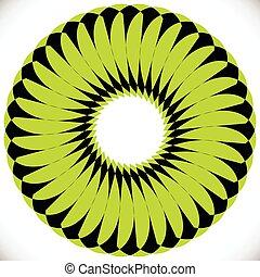 Geometric circle element(s). Abstract circular shape