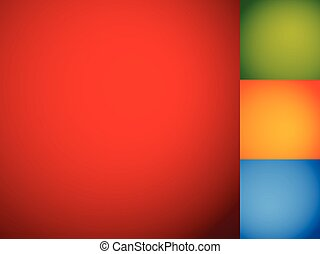 Set of smooth colorful backdrops / backgrounds with mixed...