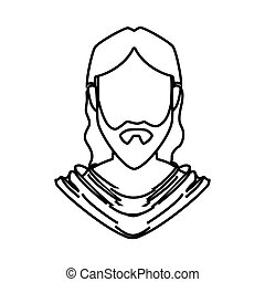 jesuschrist character isolated icon vector illustration...