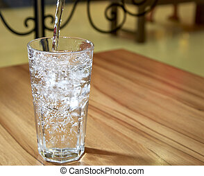 Clean drinking mineral water