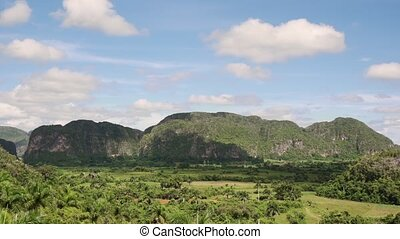 Timelapse Of Sky Nature And Cuban Landscape In Vinales Cuba...