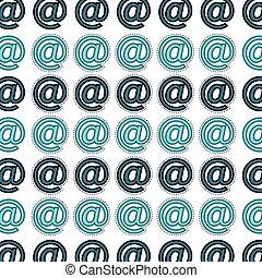 arroba symbol pattern background vector illustration design