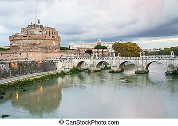 Tiber River, Castle of the Holy Angel in Rome