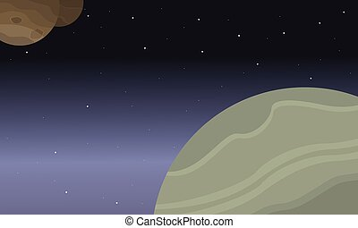 Illustration of outer space background