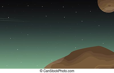 Landscape of outer space with stars
