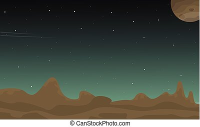 Space landscape with stars collection