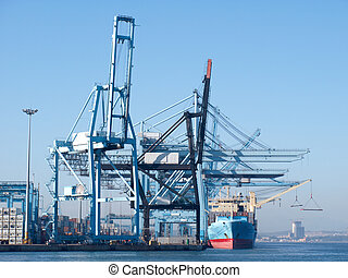 harbor - Container terminal in the port of Algeciras, Spain