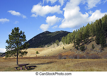 Beautiful autumn mountain landscape in Colorado, America