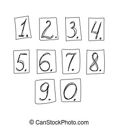 Vector numbers isolated