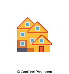 Vector icon or illustration with house in material design...