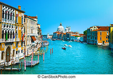 Venice grand canal, Santa Maria della Salute church...