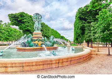 Fontaine de Observatoir near Luxembourg Garden in Paris. France.