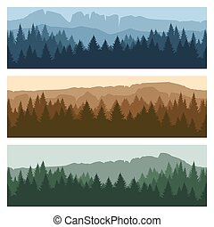 Outdoor mountain landscape banners - Outdoor rocky landscape...