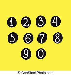 scribble numbers isolated