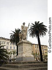 Napoleon statue Bastia Corsica - statue Napoleon Bonaparte...