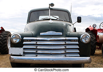old truck parked