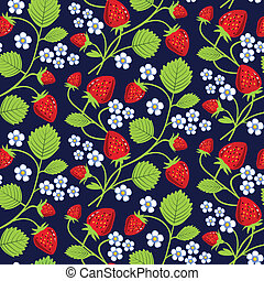 Strawberries background - Strawberries seamless background...