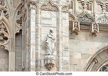 Duomo di Milano - Particulars of decorations of Duomo of...
