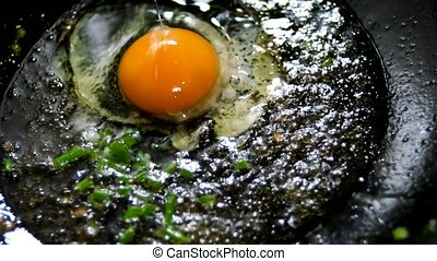 eggs sunny side down - frying eggs sunny side down over easy