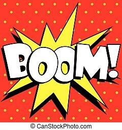 Cartoon Boom explosion
