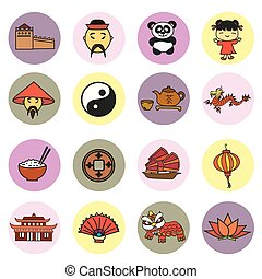 Set china icons