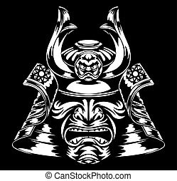 Samurai Mask and Helmet - A stylised fearsome Samurai Mask...
