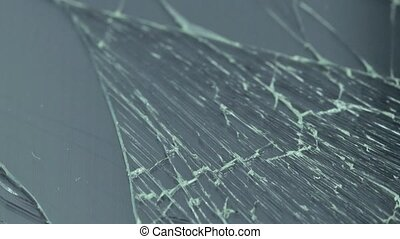 Broken screen of cellular phone - Close up view of cellular...