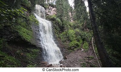 Waterfall Maiden's Tears valley Jets-Oguz. Issyk Kul,...