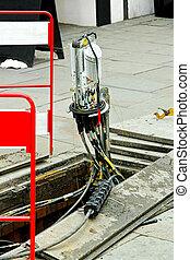 fibra, Óptico, cable