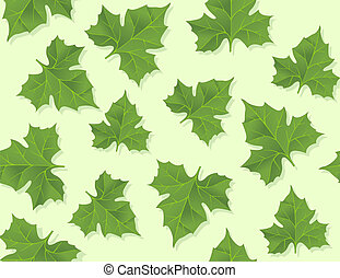 background seamless pattern of green leaves vector...