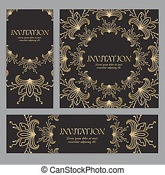 Vector banners with floral ornament