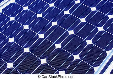 solar panel - alternative power source a blue solar panel