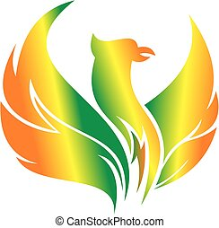 flying phoenix logo illustration