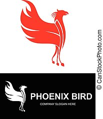 red phoenix bird logo can use for nay business