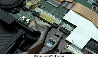 CPU socket close up view - View of CPU socket close up shot