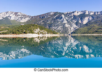 Lake in the Gorges du Verdon, France