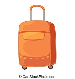 Brown Suitcase On Wheels With Telescopic Handle Item From...