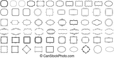 Set of different type of frames - Set of different type...