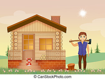 woodcutter - illustration of woodcutter